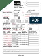 Cummins Diesel Fuel Diagnostic Worksheet