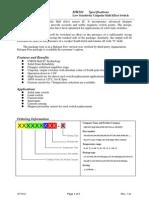 MH281 - Low Sensitivity Unipolar Hall Effect Switch