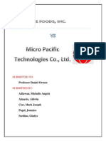 Ace Foods VS Micro Pacific Technologies Co., Ltd.