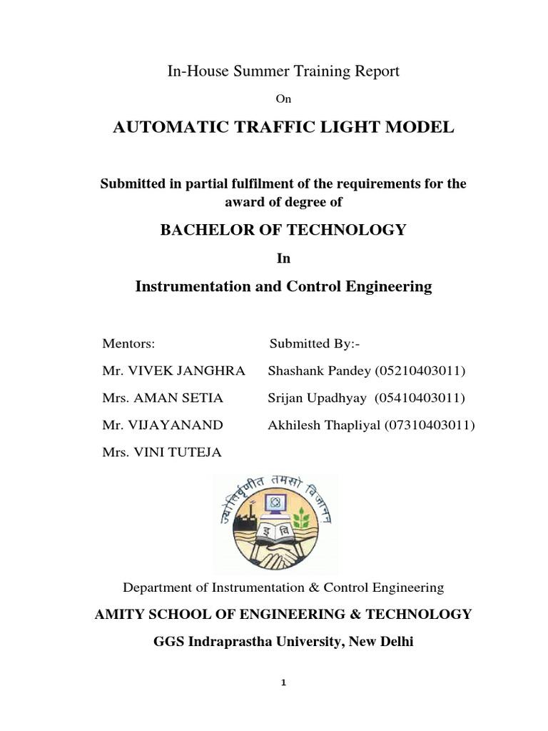 Projct Report Traffic Lights Diode Light Emitting Cmos 4017 Sequential Timer