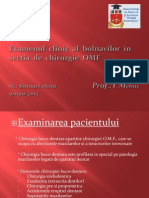 Examenul Clinic Al Bolnavilor in Sectia de Chirurgie OMF