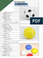 PU Foam Balls