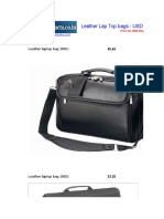 Leather Bags Lap Top - USD FOB