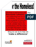 Working in Partnership With Any Manchester Cathedral We Are Collecting
