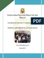 Análisis y Aplicación de La Ley Universitaria