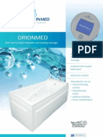 Orionmed professional advanced hydromassage bath tub