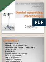 Dental Operating Microscope.