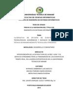 Modulo III Web Interconexion de La Estructura de La Red Vlan y El Servicio Streaming Para La Tran