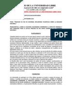 Invitacion Vi Foro de Filosofia Colegio de La Universidad Libre 2014