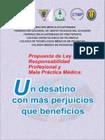 5 Ley de Responsabilidad y Mala Practica Medica Ecuador