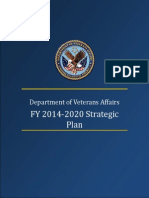 US Veterans Affairs 2014 2020 strategic Plan Draft