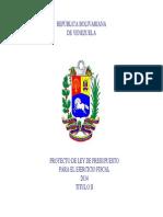 Proyecto de Ley 2014. Título II
