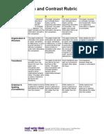 Compare and Contrast Grading Rubric