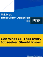 Ms Interview Questions