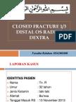 Closed Fracture Distal Radius