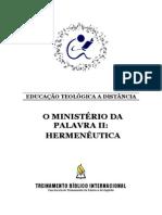 O Ministerio Da Palavra 2