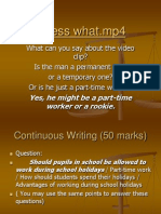 Cont Writing - Advantages of Working
