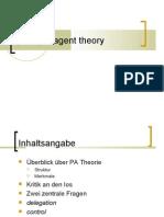 Referat über die principal-agent theory in den Politikwissenschaften