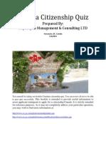 Canada  Citizenship Test 2014