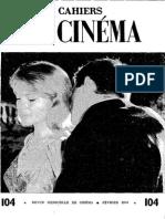 Cahiers Du Cinema 104