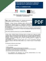 Appel SeminaireTraduction2014