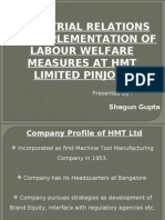 Hmt Labor Welfare