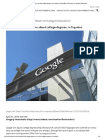 Why Google Doesn't Care About College Degrees, In 5 Quotes _ VentureBeat _ Education _ by Gregory Ferenstein