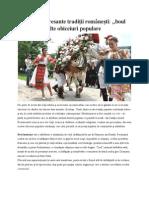 Cele Mai Interesante Tradiţii Româneşti