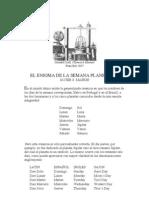 EL ENIGMA DE LA SEMANA PLANETARIA