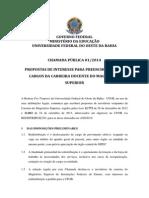 Edital Chamada Publica Docentes