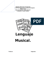 Trabajo El Lenguaje Musical