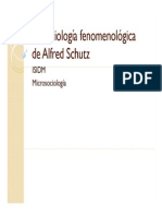 Sociologia Fenomenologica de ALDRED SCHUTZ