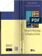 0 Manual de Metodologia Da Pesquisa No Direito - Orides Mezzaroba - Claudia Servilha Monteiro[1] (1) (1)