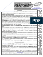 Consulplan 2008 Codevasf Tecnico Em Topografia Prova
