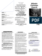 July 13, 2014 Trifold Bulletin