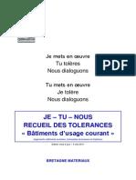 Recueil Des Tol Rances 15 Juin 2011 TRAVAIL