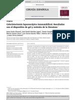 Colecistectomia Transumbilical Española