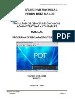 Dosier Tributacion en PDT 2013