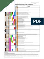 Calendario Academico 2014 - Semestral