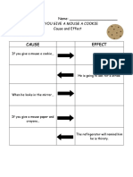 Cause and Effect Graphic Organizer if You Give a Mouse a Cookie