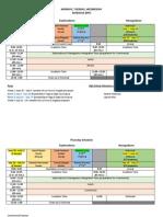 exploradores schedule