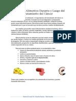 sanidad de alimentos durante y luego del tratamiento del cancer