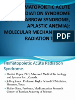 Hematopoietic Acute Radiation Syndrome (Aplastic Anemia, Bone Marrow Syndrome)