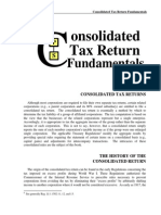 Consolidated Tax Return Fundamentals