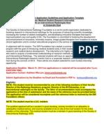 2014 SIRF Summer Med Student Internship Student Application