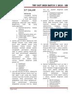 Kumpulan Soal to UKDI Batch 1 UB 2014 (1)