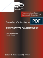 Monograph Series No. 17 - Comparative Placentoloty
