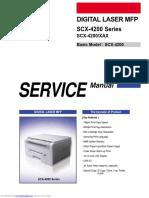 scx4200 printer troubleshooting manual
