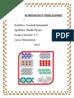 Trabajo de Mosaicos o Teselaciones Caratula