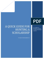 Hunting a Scholarship